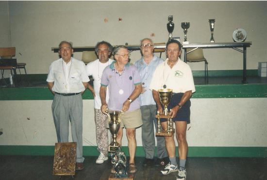 1995. Vétérans à Lavaveix / Moulin du Breuil / Moutier d'Ahun.
