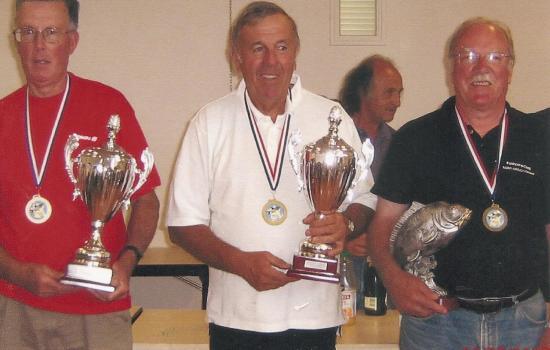 Le podium avec Daniel NISOLE 3ème (en maillot noir)